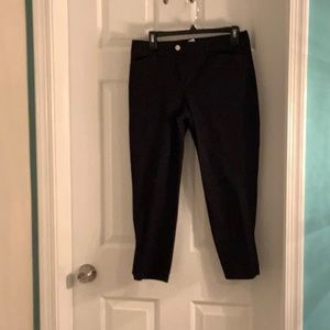 WHBM black ankle pant